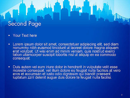Silhouette of The City PowerPoint Template, Slide 2, 14361, Construction — PoweredTemplate.com