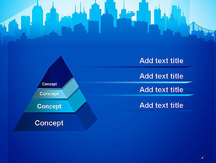 Silhouette of The City PowerPoint Template Slide 4