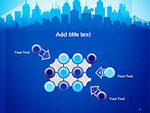 Silhouette of The City PowerPoint Template#10
