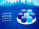 Silhouette of The City PowerPoint Template#12