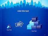 Silhouette of The City PowerPoint Template#13
