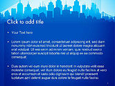 Silhouette of The City PowerPoint Template#2