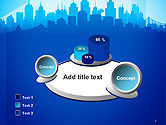 Silhouette of The City PowerPoint Template#6