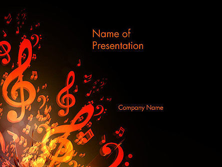 Music Explosion PowerPoint Template, 14364, Art & Entertainment — PoweredTemplate.com
