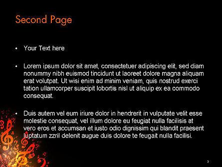 Music Explosion PowerPoint Template, Slide 2, 14364, Art & Entertainment — PoweredTemplate.com