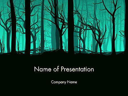 Nature & Environment: Deadwood Silhouet PowerPoint Template #14365