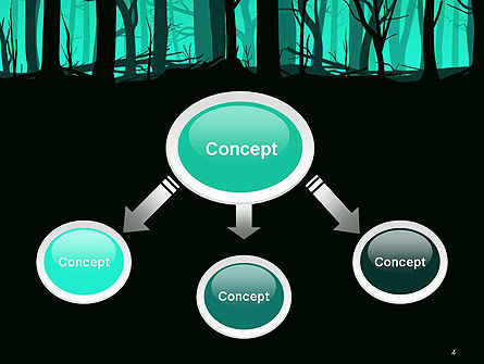 Deadwood Silhouette PowerPoint Template, Slide 4, 14365, Nature & Environment — PoweredTemplate.com