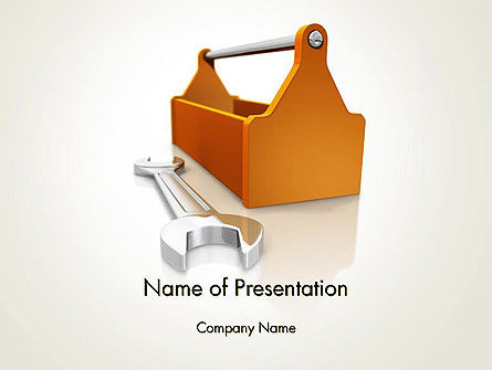 Utilities/Industrial: Toolbox and Spanner PowerPoint Template #14366