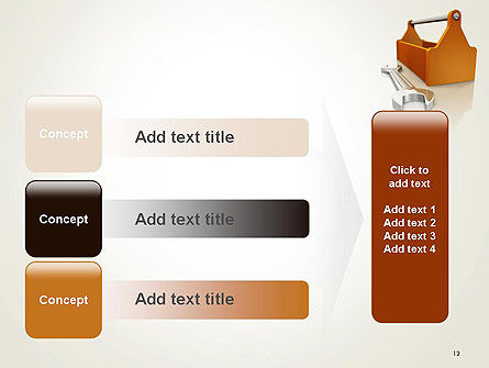 Toolbox and Spanner PowerPoint Template Slide 12