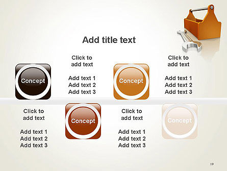 Toolbox and Spanner PowerPoint Template Slide 19