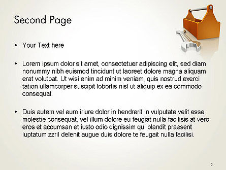 Toolbox and Spanner PowerPoint Template Slide 2