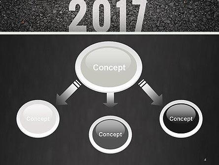 Message Start 2017 on Asphalt Road PowerPoint Template Slide 4