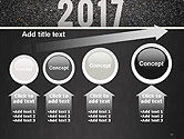 Message Start 2017 on Asphalt Road PowerPoint Template#13
