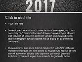 Message Start 2017 on Asphalt Road PowerPoint Template#2