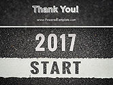 Message Start 2017 on Asphalt Road PowerPoint Template#20