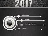 Message Start 2017 on Asphalt Road PowerPoint Template#3