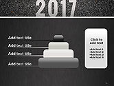 Message Start 2017 on Asphalt Road PowerPoint Template#8