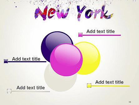 New York Skyline in Watercolor Splatters PowerPoint Template Slide 10