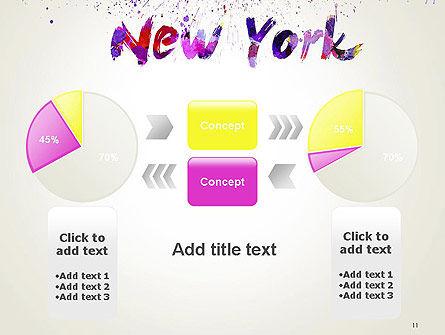 New York Skyline in Watercolor Splatters PowerPoint Template Slide 11
