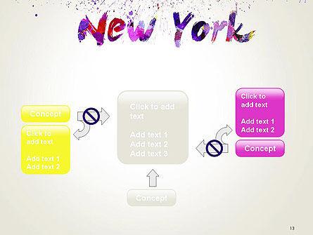 New York Skyline in Watercolor Splatters PowerPoint Template Slide 13
