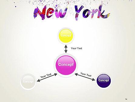 New York Skyline in Watercolor Splatters PowerPoint Template Slide 14