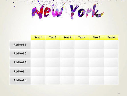 New York Skyline in Watercolor Splatters PowerPoint Template Slide 15