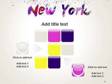 New York Skyline in Watercolor Splatters PowerPoint Template Slide 16
