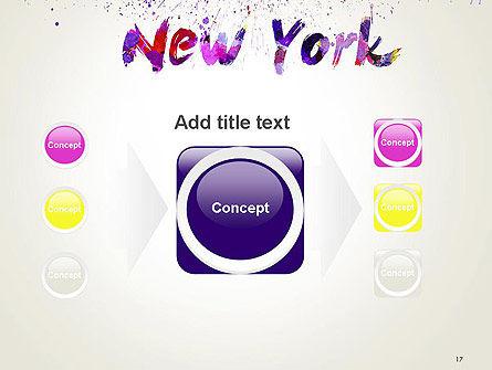 New York Skyline in Watercolor Splatters PowerPoint Template Slide 17