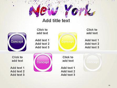 New York Skyline in Watercolor Splatters PowerPoint Template Slide 19