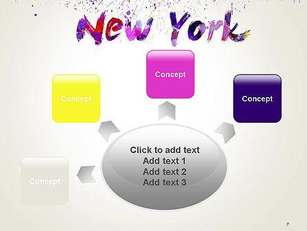 New York Skyline in Watercolor Splatters PowerPoint Template Slide 7