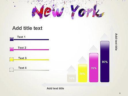 New York Skyline in Watercolor Splatters PowerPoint Template Slide 8