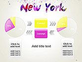 New York Skyline in Watercolor Splatters PowerPoint Template#11