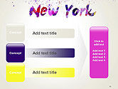 New York Skyline in Watercolor Splatters PowerPoint Template#12