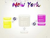New York Skyline in Watercolor Splatters PowerPoint Template#13