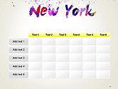 New York Skyline in Watercolor Splatters PowerPoint Template#15
