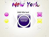 New York Skyline in Watercolor Splatters PowerPoint Template#17