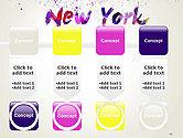 New York Skyline in Watercolor Splatters PowerPoint Template#18