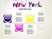 New York Skyline in Watercolor Splatters PowerPoint Template#19
