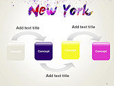 New York Skyline in Watercolor Splatters PowerPoint Template#4