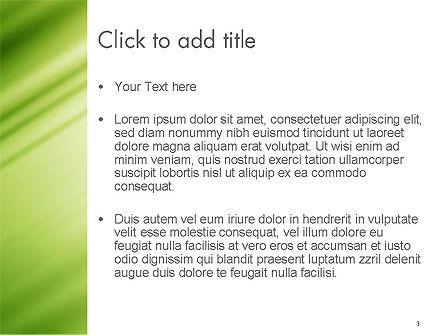 Green Diagonal Motion Blur Abstract PowerPoint Template, Slide 3, 14369, Abstract/Textures — PoweredTemplate.com