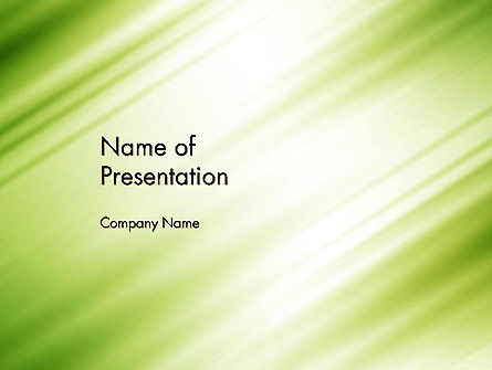 Green Diagonal Motion Blur Abstract PowerPoint Template, 14369, Abstract/Textures — PoweredTemplate.com