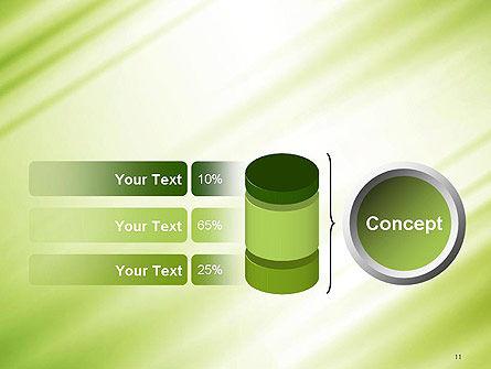 Green Diagonal Motion Blur Abstract PowerPoint Template Slide 11