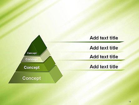 Green Diagonal Motion Blur Abstract PowerPoint Template Slide 12