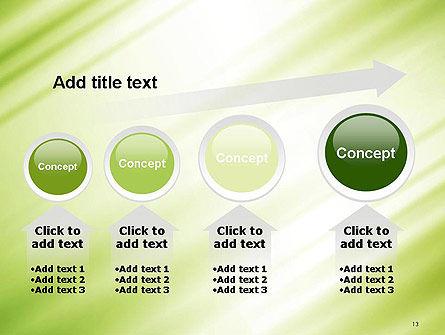 Green Diagonal Motion Blur Abstract PowerPoint Template Slide 13