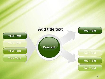 Green Diagonal Motion Blur Abstract PowerPoint Template Slide 14