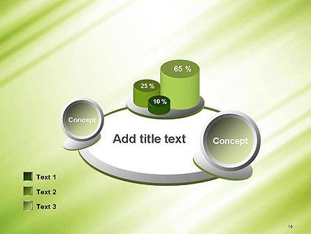 Green Diagonal Motion Blur Abstract PowerPoint Template Slide 16