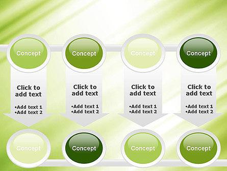 Green Diagonal Motion Blur Abstract PowerPoint Template Slide 18
