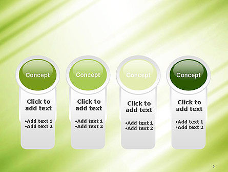 Green Diagonal Motion Blur Abstract PowerPoint Template Slide 5