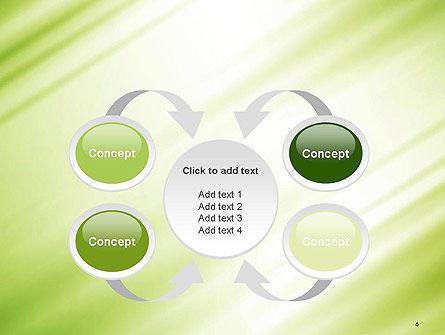 Green Diagonal Motion Blur Abstract PowerPoint Template Slide 6