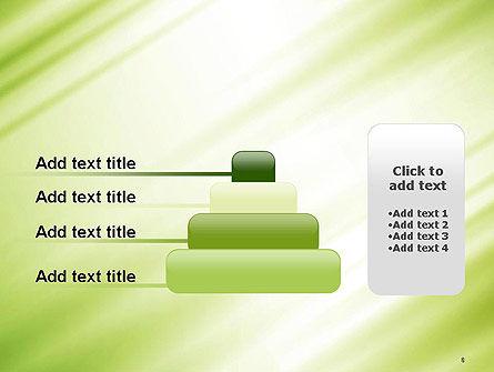 Green Diagonal Motion Blur Abstract PowerPoint Template Slide 8